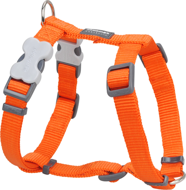 Red Dingo Plain Orange Dog Harness