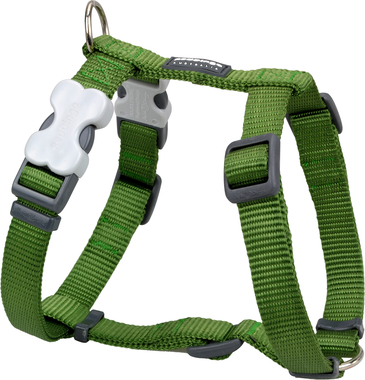 Red Dingo Plain Green Dog Harness