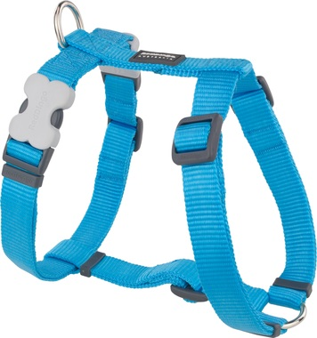 Red Dingo Plain Turquoise Dog Harness