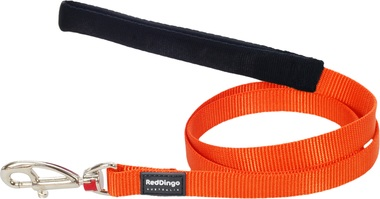 Red Dingo Plain Orange 1.2m Dog Lead