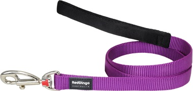 Red Dingo Plain Purple 1.2m Dog Lead