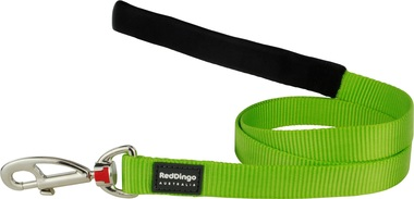 Red Dingo Plain Lime Green 1.2m Dog Lead
