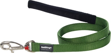 Red Dingo Plain Green 1.2m Dog Lead