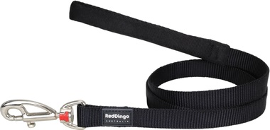 Red Dingo Plain Black 1.2m Dog Lead