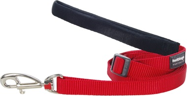 Red Dingo Plain Red Adjustable 1.8m Dog Lead