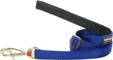 Red Dingo Plain Dark Blue Adjustable 1.8m Dog Lead