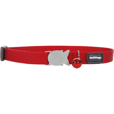 Red Dingo Plain Red Cat Collar