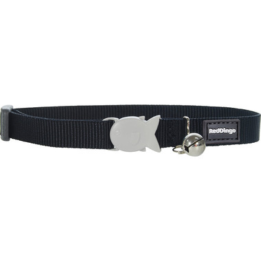 Red Dingo Plain Black Cat Collar