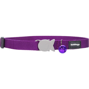 Red Dingo Plain Purple Cat Collar