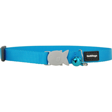 Red Dingo Plain Turquoise Cat Collar