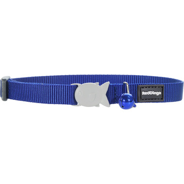 Red Dingo Plain Dark Blue Cat Collar