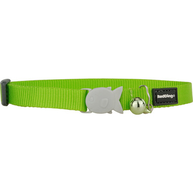 Red Dingo Plain Lime Green Cat Collar