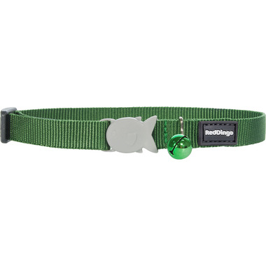 Red Dingo Plain Green Cat Collar
