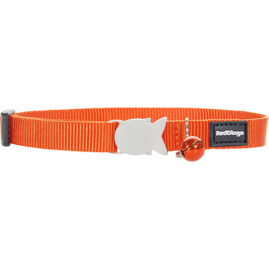 Red Dingo Plain Orange Cat Collar