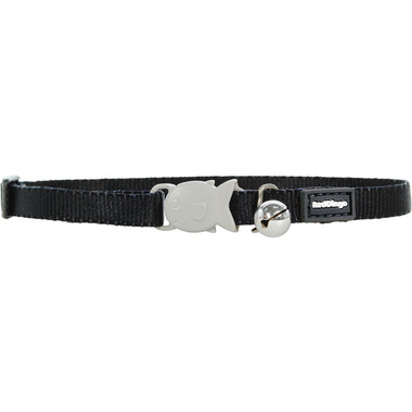 Red Dingo Plain Black Kitten Collar
