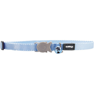 Red Dingo Plain Light Blue Kitten Collar